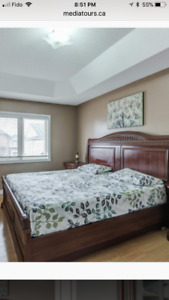 7 pieces  King size bed set