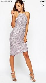 ASOS VIRGOS LOUNGE SEQUINNED DRESS