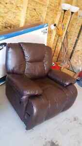 Leather Recliner Love seat and leather recliner chair