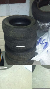 4 Ea, Uniroyal Tiger Paw Winter Tires. Size P185/65R14-85S Cornwall Ontario image 1