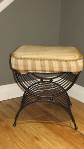 Vintage Metal Footstool / Bench