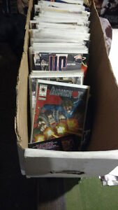 Comic books roughly70. $6 mixed box.
