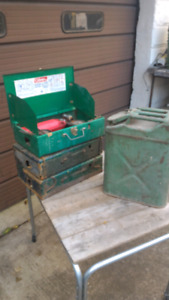 Coleman stoves and army gas can $50 each