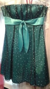 Teal Blue Strapless Sparkle Short Ladies Prom Party Dress Sz 4