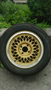 (4) RW Macho 1 Mesh wheels Rims from the 80's 4x114.3 with tires
