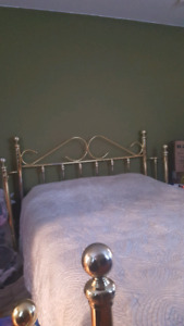 Queen sized Brass Bed