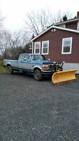 1993 Ford F-250 4X4 XLT Pickup Truck With 8Ft Meyer Plow