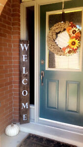 Rustic Hand Painted Welcome Signs Kitchener / Waterloo Kitchener Area image 1