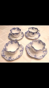Set of Four Immaculate  Dainty Blue Demi Tasse Cups London Ontario image 1