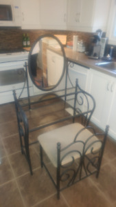 Makeup vanity with bench, $100