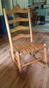 Rocking Chair Antique ladder back, maybe maple