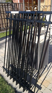 Metal fence - four sections