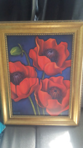 Framed rafuse poppies