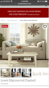 Pottery Barn Brand New Organic Daybed Cover