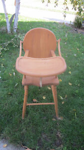 Wooden High Chair London Ontario image 1