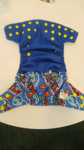 Superman cloth diaper cover