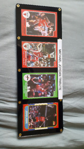Michael Jordan RP basketball cards framed