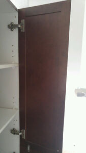 Walnut color maple cabinet kitchen!
