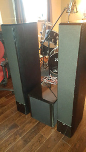 Sinclair 460t tower speakers (x2) and 310S powered subwoofer