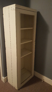 Antique White Bookcase
