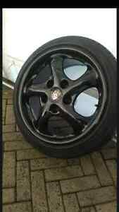 Porsche twist with adapters and tires 5x112