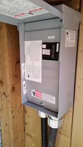 GFCI Breaker (60 Amps) with panel for hot tub or pool