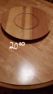 Maple wood Lazy Susan's with turntable