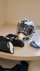 FXR Torque X Core Snow Helmet with Electric Shield
