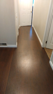 Two boxes of laminate flooring