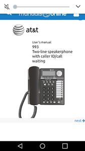 Corded phones and answering machine