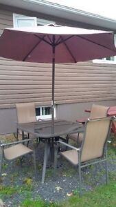 patio set with 4 chairs for sale only $150.00
