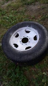 LT 275/70 R18 summer tire on 8 hole rim