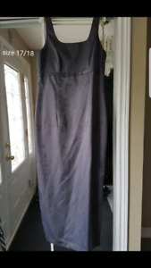 Charcoal grey evening dress size 17/18