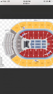 Bon Jovi Front section 109 row 20. 2 tickets this weekend @ ACC