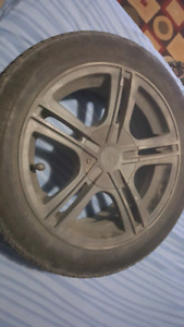 Set of 4 rims and tires 4x108/5x108