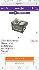 Grace pack 'n play ticking seat pack and play, and Cuddle cove