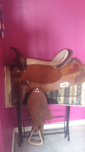 """17"""" Saddle and various tack for sale"""