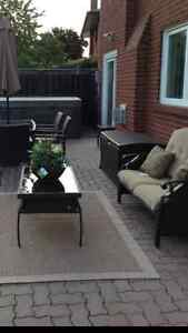 Lazy boy outdoor sofa and coffee table