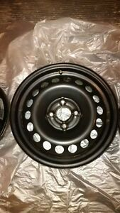 Steel Rims 15 x 6 with 4 - 100 Bolt Pattern Excellent Condition