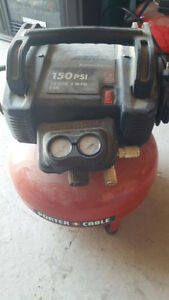 Porter Cable 6 Gallon compressor with two nail guns