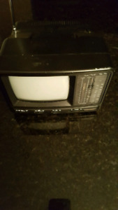 Portable am/fm radio with built in t.v