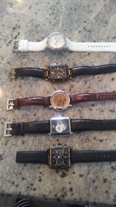 5 Watches from Armani and Guess Collections Men's