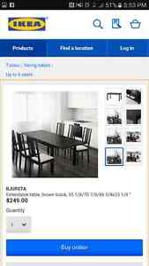IKEA Dining table and 6 chairs Windsor Region Ontario image 4
