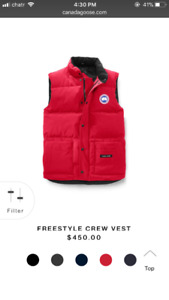 Canada Goose Freestyle Vest (Red) size medium