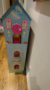 Barbie wooden doll house