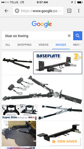 Blue ox tow bars with all the cables and pins
