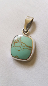 Turquoise & Silver Necklace Charm