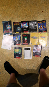 Vintage nes and snes instruction booklets.