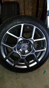 2007 acura tl type-s rims and summer tires