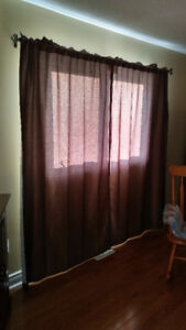 Bronze/Chocolate Lined Curtains